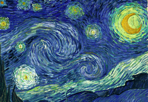 starry night. van gogh. 1889. see below for similarities and poem.