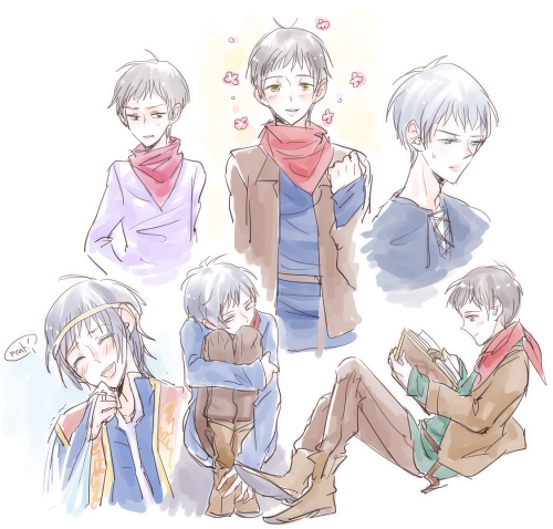 Merlin sketch dump ;3;)y My Merlin is too effeminate. Especially that future magic-accepted Emrys doodle (total guess work). I'm procrastinating!