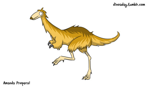 "Mononykus (""One Claw"") Lived: The late Cretaceous period. Size: 1 metre. About: This small theropod more than likely preyed on insects and other small critters. It was rather bird-like and possessed a single large claw on the end of its small arms."