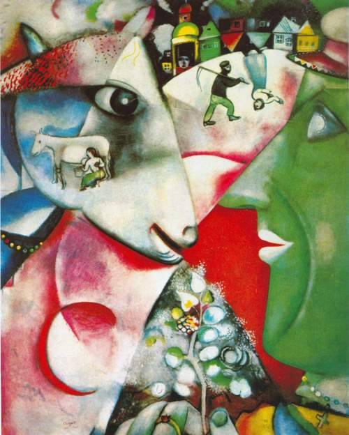 Marc Chagall, I and the Village 1911