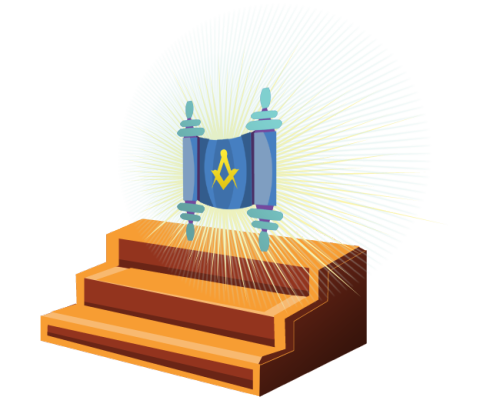 Three Steps to Masonic AdvancementIllustration for LDH American Federation Newsletter Brandy Zzyzx 2011