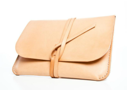 Undyed leather iPad portfolio from Kenton Sorenson. via Goop.