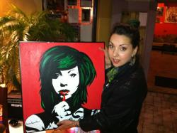 My drummer (Charlie Wells) painted this for me! Thank you Charlie! ♥