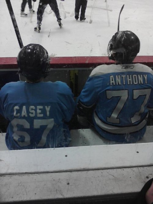 collegehumor:   Casey Anthony Hockey Players   They're a killer duo on the ice.