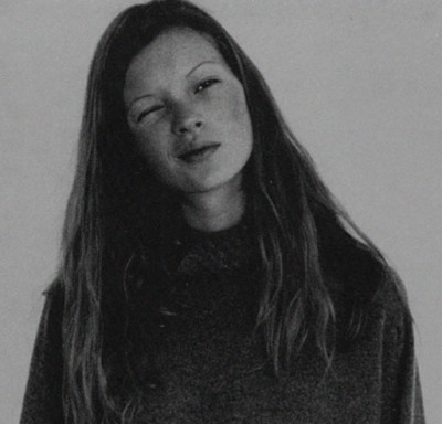 Kate Moss shot by corinne day for i-D december 1993.