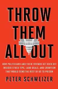 On the same day that we published Throw Them All Out by Peter Schweizer, Senator Scott Brown introduced the STOCK Act to stop insider trading in Congress. This was in the wake of the 60 Minutes story that aired on Sunday that was based on the research Schweizer did for Throw Them All Out. It's amazing to see the effect a book and an author can have.  This Newsweek piece gives you a bit of an idea just how much is revealed in the book, but check out the book itself and you'll be astonished at the number of congresspeople involved (Schweizer was not afraid to name names!) and the extent of the corruption.  For more info, visit the web site for Throw Them All Out.