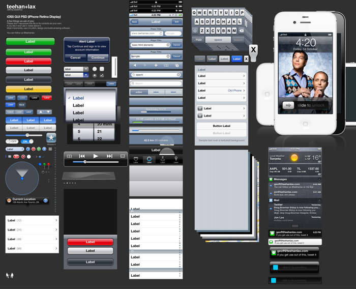 already using this…very helpful. =) designfound:  iOS 5 GUI PSD Teehan + Lax updated iOS template.