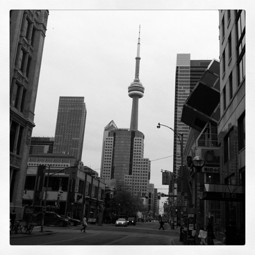 My beautiful city. #instagood #filter #igtoronto #blackandwhite #ipp #instadaily #igerstoronto #skyline #city (Taken with instagram)