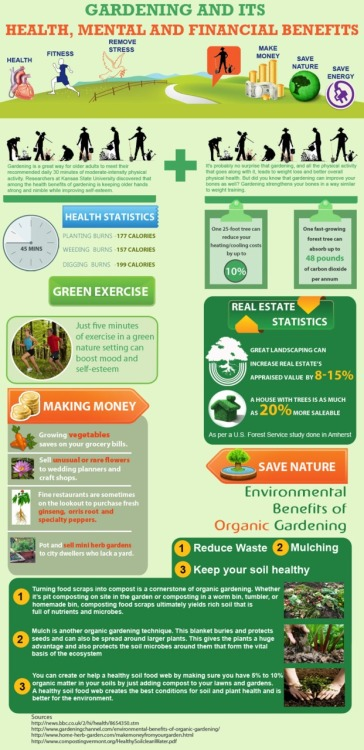 Infographic: Gardening and its Health, Mental and Financial Benefits (Source: Loch Ness Water Gardens)