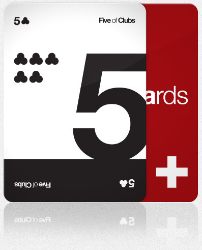 laughingsquid:  Helveticards, Minimalist Typographic Playing Cards