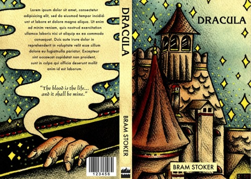 This is a jacket for the classic book, Dracula.