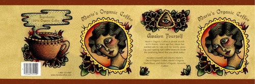 This is a coffee wrap I created for my Type and Image class.