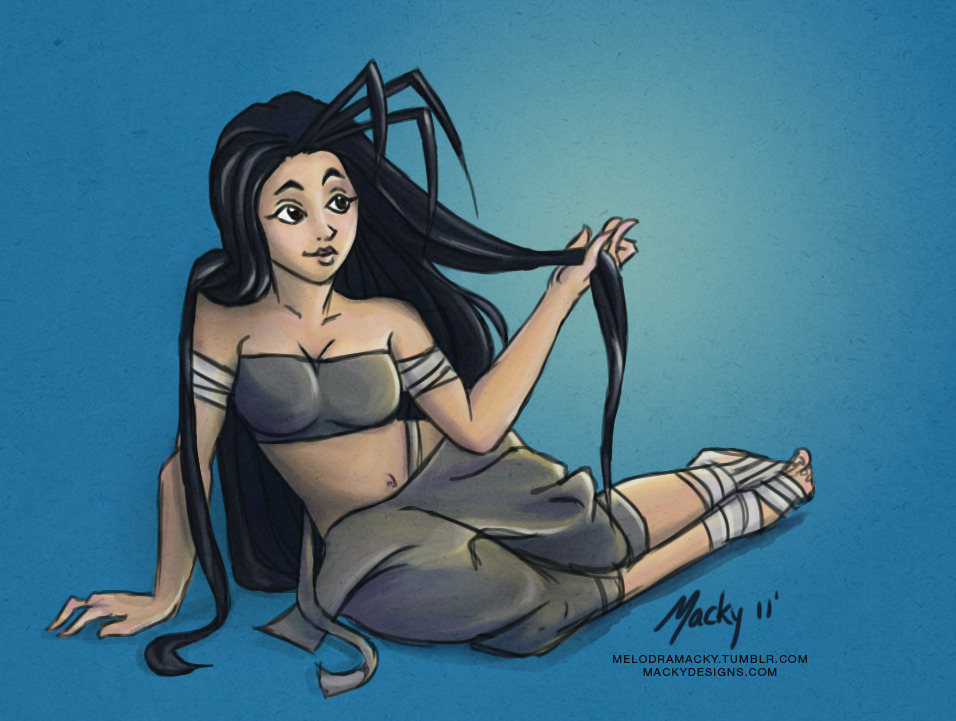 crimsonviper:  melodramacky:  Ibuki with her hair down! :] <3 Hope you like it.  <3333!!!