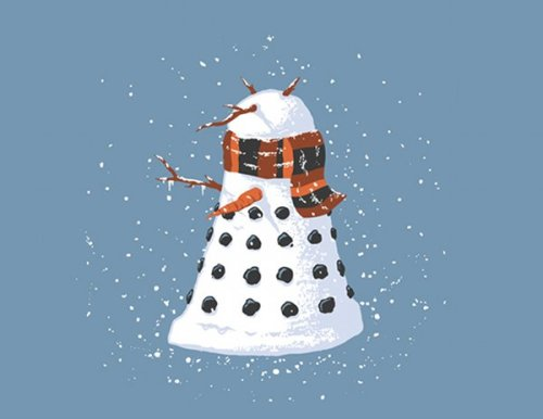 "I won't mention the ""C"" word, but damn this Dalek makes me feel festive!"