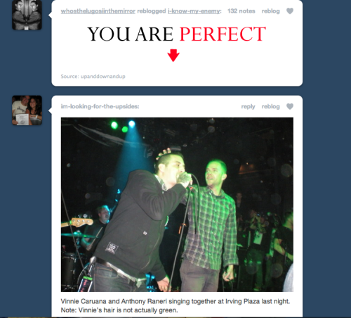 haha so who is perfect? my boyfriend, who posted that? or Anthony and Vinnie? :P