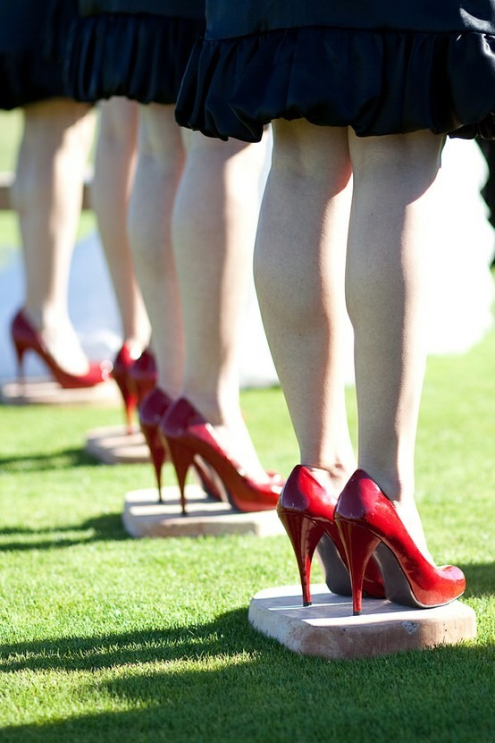 Little flat stones for your bridesmaids to stand on during the ceremony. (So their heels don't sink into the ground!)