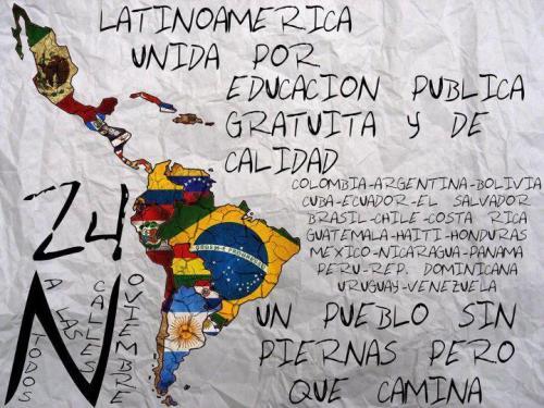 Latinoamérica unida por educación pública gratuita y de calidad!