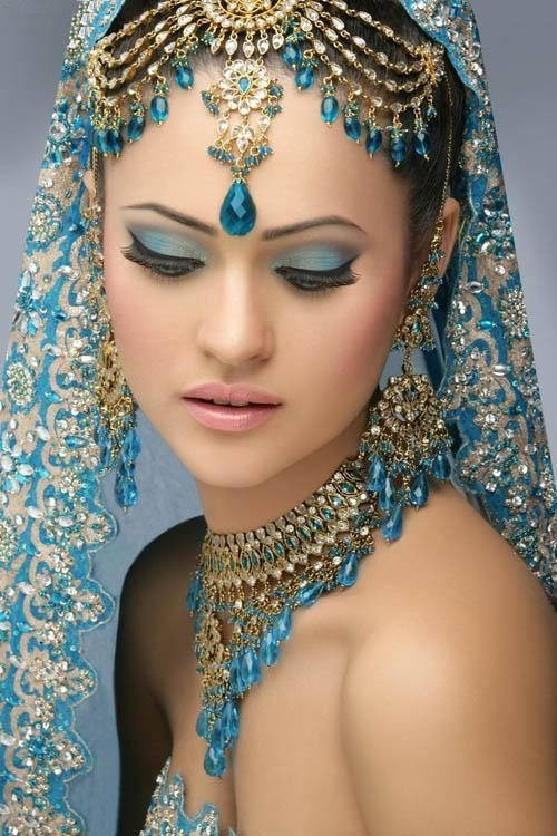 A beautiful Pakastani bride.  Everything from her jewelry to her make up is stunning! Next week I will be discussing weddings in different cultures.