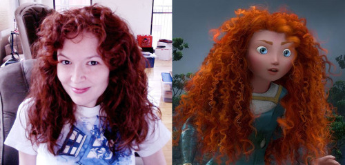 Me and Princess Merida. The resemblance! It is uncanny! Or so I like to think. :) Can't wait for Brave. Did you see the trailer yet?
