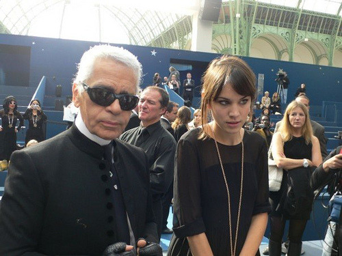 alexachunglover:  Alexa and Karl Lagerfeld