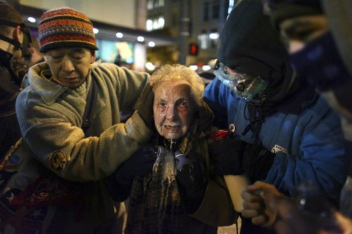 - 84 year old woman pepper-sprayed at occupy Seattle