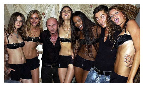 supermodelshrine:  Anouck, Esther, Fernanda, Naomi and Gisele with Domenico Dolce and Stefano Gabbana