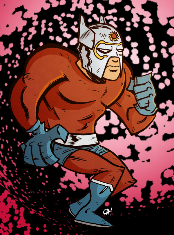 joebloodyhunter:  Chris Haley drew an Orion. I colored him in for funsies. Orion, not Chris.