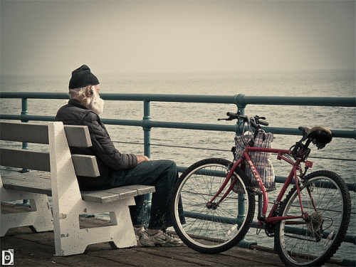 Alone by El Negro Vikingo on Flickr.Venice Beach.
