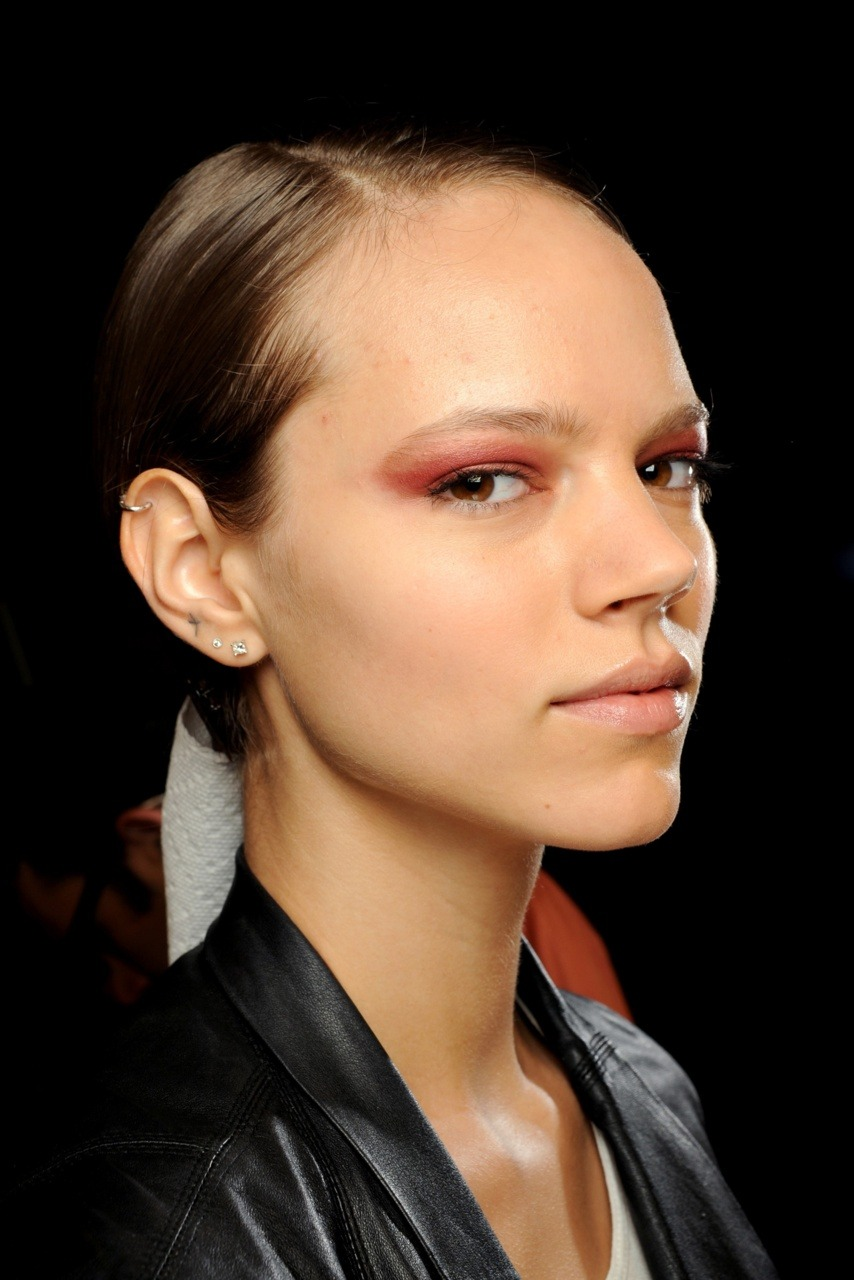 The one and only Freja backstage at Derek Lam ss11.