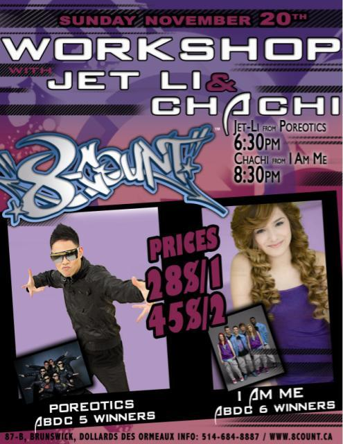 poreoticsnews:  Jet Li and Chachi's workshop info