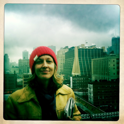 So happy to be in NYC in the rain on a rooftop.