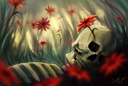 bookspaperscissors:  Serenity & Death and Daisies | Angela Taratuta