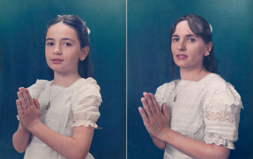 This is super cool. This photographer has recreated old photos with the same people who were in the original photos, only now they're older. It's super cool. Click on the image above to see them all.