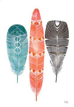 (via Lhasa Feathers Archival Print by RiverLuna on Etsy)