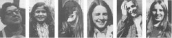 "nice-wig-janis:  shieldedwithasmile:    In November of 1970, forty people were photographed at the exact instant after the photographer said, ""You have a beautiful face.""   Reblogging again because I absolutely love this  its back :)"