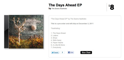"PRE-ORDERS OPEN FOR ""THE DAYS AHEAD EP""  ""Couldn't be more excited about this record. It is truly something that we made completely ours. We wanted to give you guys all an album that we love and truly reflected the people we are but that we also knew our original fans and newer fans would enjoy. We hope you enjoy this as much as we enjoyed making it!   Please check out the video of ""Walk Away""! It's a live version of one of the tracks off our album! We will be releasing one for every track! So keep your eyes and ears open!""  <3 Andrew PRE-ORDER YOUR COPY: http://goo.gl/x1XOT"