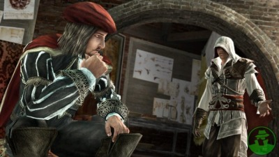 "One of the reasons why Assassins Creed is one of my favorite games of all time is because of how Leonardo Da Vinci has influenced the series so much. I just love to learn the amazing facts from the architecture and sites of the 14th century, as well. Just read a pretty interesting one while playing AC Revelations:  ""In 1502, Sultan Bayezid II invited the famous Florentine Leonardo Da Vinci to submit a design for a bridge that would span a 250-meter wide section of the Golden Horn. Upon seeing Leonardo's design, however, the Sultan felt the project was too ambitious and scrapped the idea. Four years later, Bayezid extended the same invitation to a young artist named Michelangelo. But Michelangelo—being an avowed rival of Da Vinci's—refused the Sultan's invitation outright, evidently incensed that Leonardo had been asked first.""   I never knew Michelangelo was Da Vinci's declared rival—although the thought had crossed my mind at one point in time when comparing their pieces of art. This games simply fantastic."