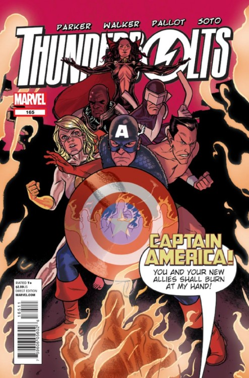 Thunderbolts #165, January 2012, written by Jeff Parker, penciled by Kev Walker
