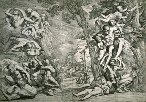 Pietro Testa, Allegory of Winter, 1644 Essentially a clusterfuck of allegorical figures by the little known Italian Renaissance artist Pietro Testa. Bonus: the old woman with the saggy boobs is a figure of time!