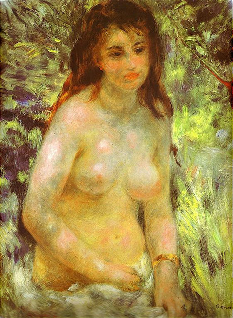 Pierre-Auguste Renoir, Nude in the Sunlight, 1876 Dappled and soft.
