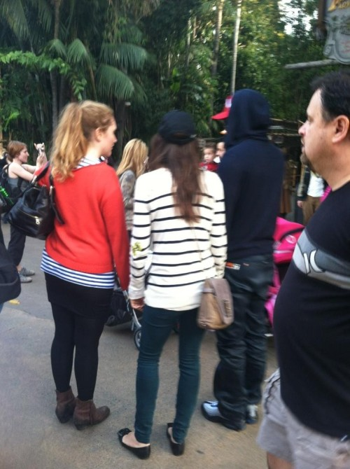 At Disneyland with Justin Timberlake in Anaheim, California - November 16, 2011.