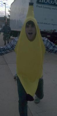 jordan's body slowly transforms into a banana