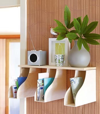 Clever use of magazine holders