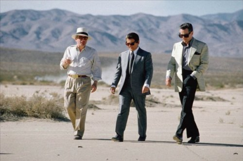 filmsaremything:  Martin Scorsese, Joe Pesci and Robert De Niro filming Casino.