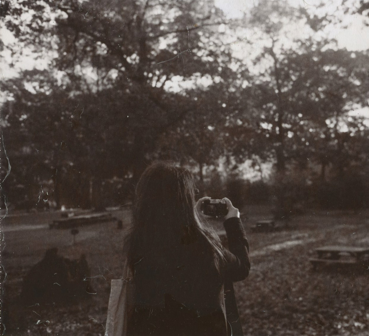 lizabeth.  in forest park, queens.  (mamiya+polaroid sepia)