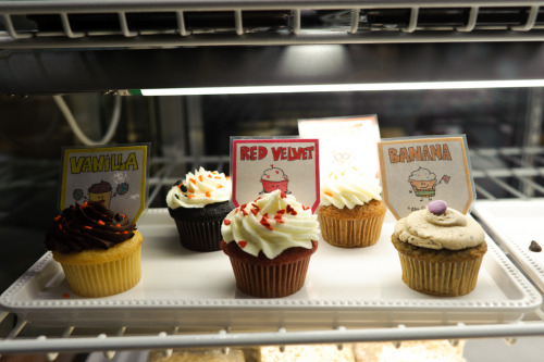randomike:  Cupcakes - Vanilla, Red Velvet, and Banana Cupcakes @ Molly's Cupcakes