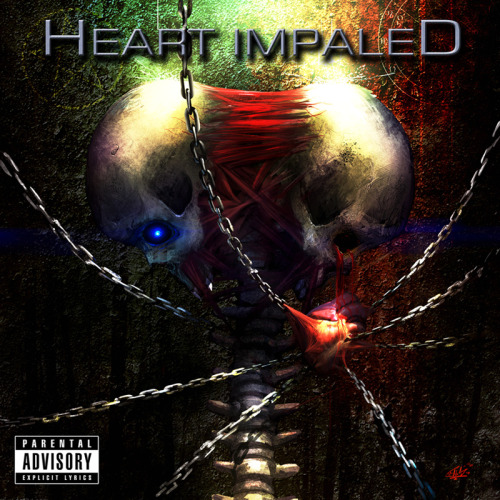 Heart Impaled cover artwork done by Geoff Trebs.