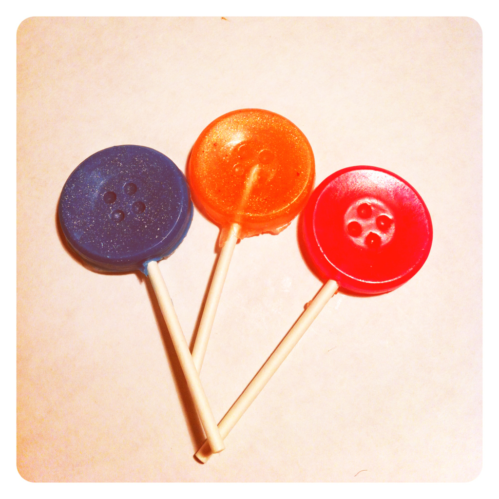 Button lollipop soaps!
