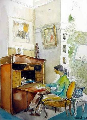 Judy Cassab Grandmother's Desk  2005