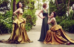 Stunning photoshoot for Vogue Magazine with the Crawley sisters